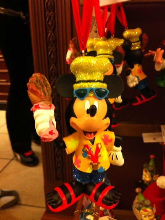 Tourist Mickey Mouse Ornament