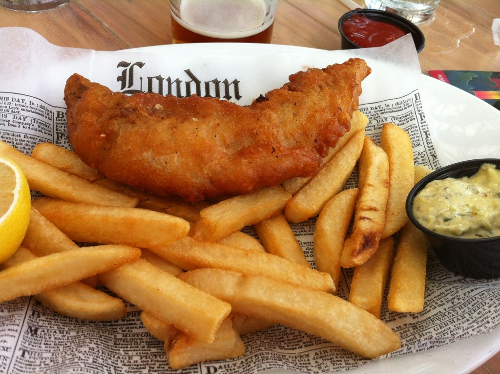 Dining at epcot s rose crown pub disneyfoodie for Fish chips recipe