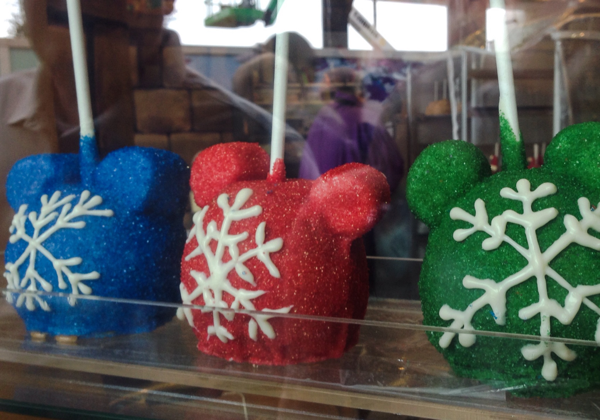 Mickey Mouse head snowflake apples at Walt Disney World.