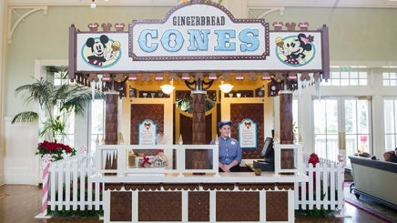 Jersey Shore-Inspired Gingerbread Stand Serves Up Holiday Treats at Disney's BoardWalk Inn.