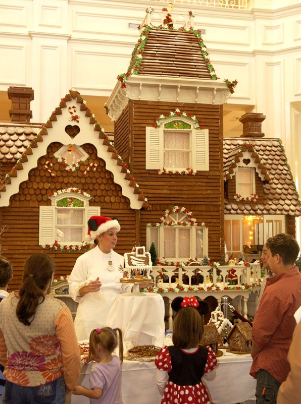 Disney's Grand Floridian Resort & Spa's Gingerbread House on Display for the Holidays.