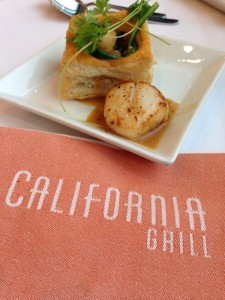 Shrimp & Scallops from the California Grill.